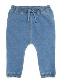 Baby Boys Mid Blue Pull On Jeans