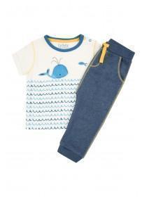 Baby Boys Blue Nautical T-Shirt and Jogger Set