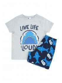 Younger Boys Blue Shark Pyjama Set