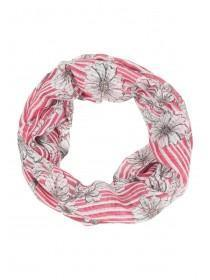 Womens Coral Striped Snood