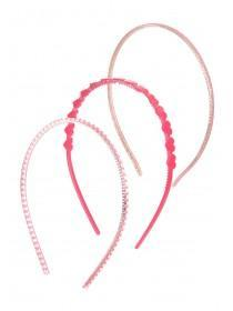 Girls 3pk Pink Sparkle Hairbands