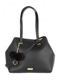 Womens Black Pom Bag