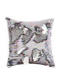 Womens Multicolour Flip Sequin Cushion
