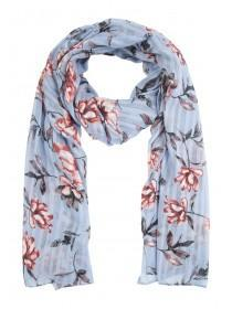 Womens Blue Floral Scarf