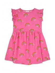 Younger Girls Pink Rainbow Dress