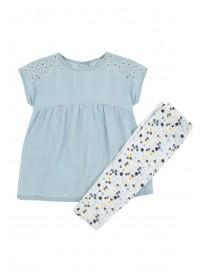Baby Girls Blue Dress Set