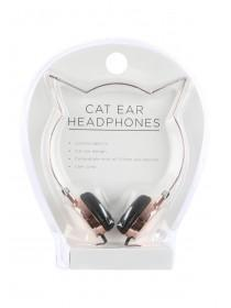 Womens Rose Gold Cat Ear Headphones