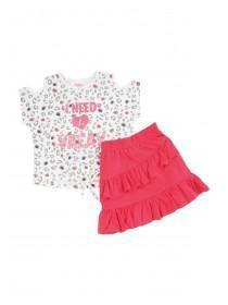 Younger Girls Vacay Top and Skirt Set