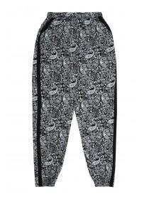 Older Girls Monochrome Paisley Trousers