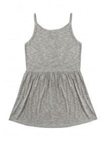 Older Girls Grey Strappy Dress