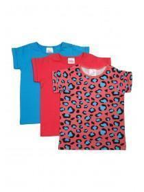 Younger Girls 3pk Leopard Print T-Shirts