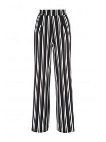 Womens Monochrome Stripe Palazzo Trousers
