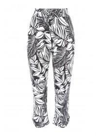 Womens Monochrome Palm Crop Trousers