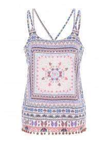 Womens Multicolour Printed Cami Top