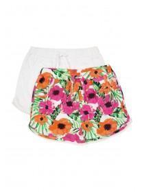 Younger Girls 2pk Bobble Shorts