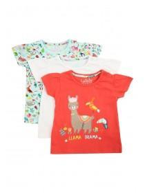 Baby Girls 3pk Jungle T-Shirts