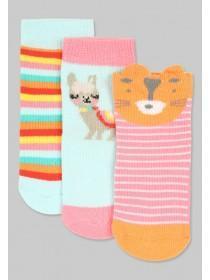 Baby Girls Pink Animal Socks
