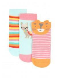 Baby Girls Pink Animal Socks