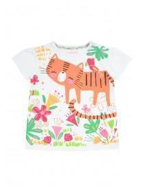 Baby Girls White Animal T-Shirt
