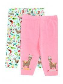 Baby Girls 2pk Pink Llama Leggings