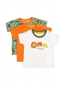 Baby Boys 3pk Green T-Shirts