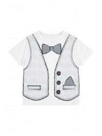 Younger Boys Waistcoat and Tie T-shirt