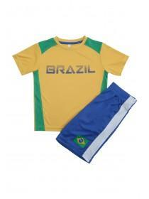 Younger Boys Yellow Brazil Top and Short Set