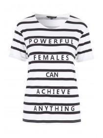 Womens Monochrome Slogan T-Shirt