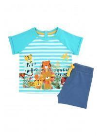Baby Boys Blue Jungle T-Shirt and Shorts Set