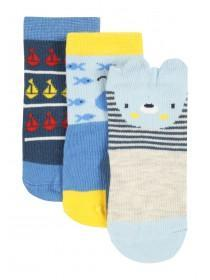 Baby Boys Blue Animal Socks