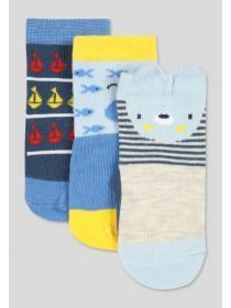 Baby Boys Blue Animal Socks