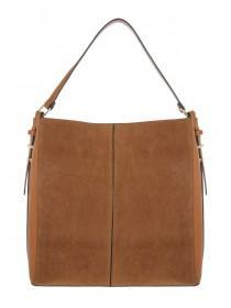 Womens Tan Slouch Shoulder Bag