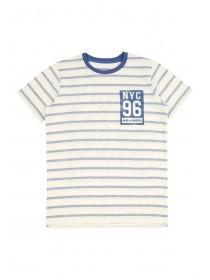 Older Boys Blue Stripe NYC T-Shirt