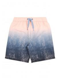 Younger Boys Pink and Blue Dip Dye Board Shorts