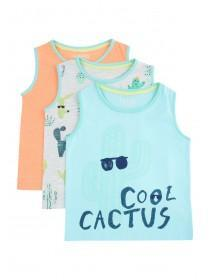 Baby Boys 3pk Cactus Vest Tops