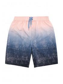 Older Boys Pink and Blue Dip Dye Board Shorts