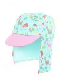 Baby Girls Aqua Animal Hat