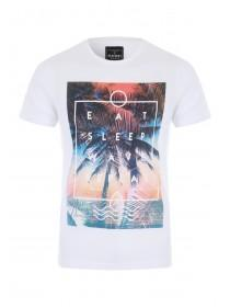 Mens White Graphic T-Shirt