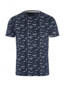 Mens Navy Nautical T-Shirt