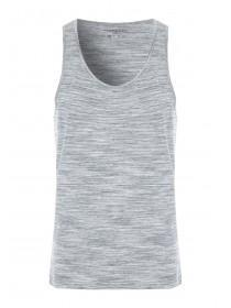 Mens Grey Textured Vest Top