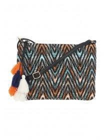 Womens Multicolour Zig Zag Across Body Bag