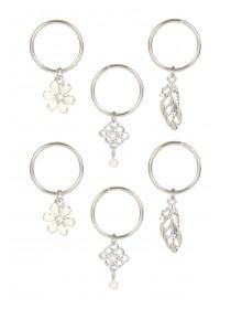 Womens Silver Hair Charms