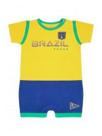 Baby Boys Yellow Brazil Romper