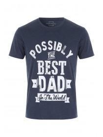 Mens Navy Dad Slogan T-Shirt