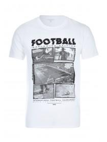 Mens White World Cup Football T-Shirt
