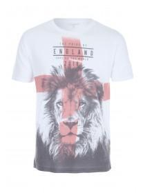 Mens Red England Football T-Shirt