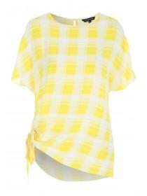 Womens Yellow Check Top