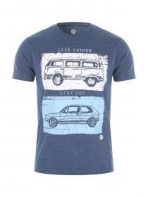 Mens Blue VW Father and Son T-Shirt