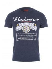 Mens Navy Budweiser T-Shirt