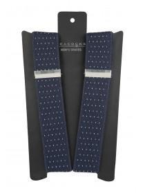Mens Navy Spot Braces